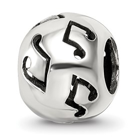 Reflection Beads Sterling Silver Cutout Music Note Bead