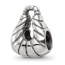 Reflection Beads Sterling Silver Striped Handbag Bead