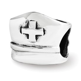 Reflection Beads Sterling Silver Nurse Hat Bead