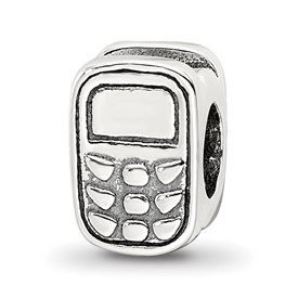 Reflection Beads Sterling Silver Cell Phone Bead