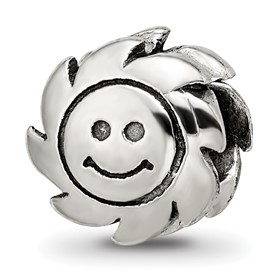 Reflection Beads Sterling Silver Smiling Sun Bead