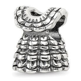 Sterling Silver Reflections Ruffled Dress Bead