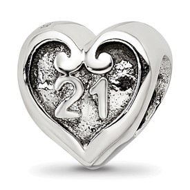 Reflection Beads Sterling Silver 21 Heart Bead