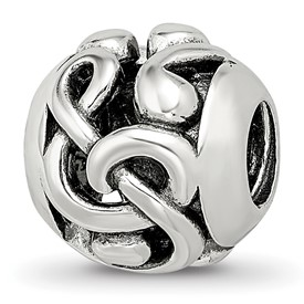 Sterling Silver Reflections Musical Notes Bead