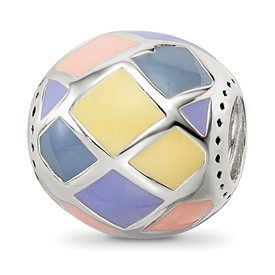 Sterling Silver Reflections Pink,Yellow and Lavender Enameled, Silver IP-Pl