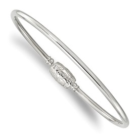 Sterling Silver Reflections Bangle with Silver Clasp Bead