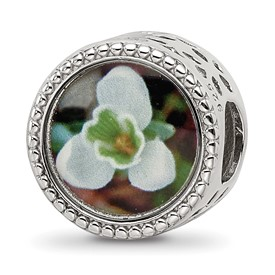 Sterling Silver Reflections January Flower Bead
