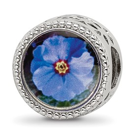 Sterling Silver Reflections February Flower Bead