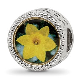 Sterling Silver Reflections March Flower Bead