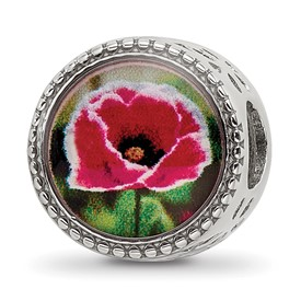 Sterling Silver Reflections August Flower Bead
