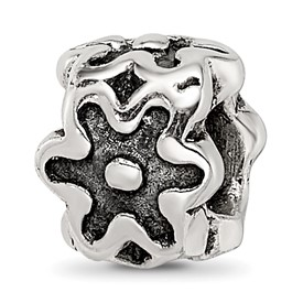 Reflection Beads Sterling Silver Antiqued Flower Kids Bead