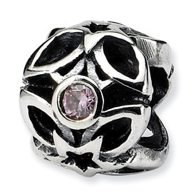 Reflection Beads Sterling Silver Pink CZ Bead