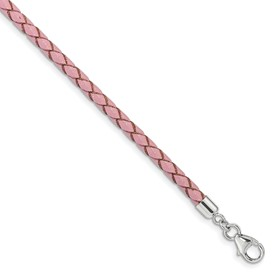 SS Reflections Pink Leather 14in with 2in ext Choker/Wrap Bracelet