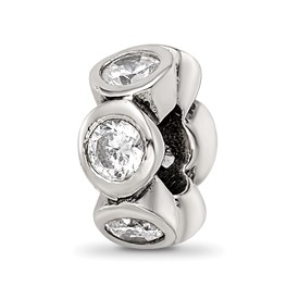Reflection Beads Sterling Silver CZ Bead