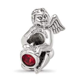 Reflection Beads Sterling Silver January CZ Birthstone Angel Bead