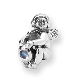 Reflection Beads Sterling Silver June CZ Birthstone Angel Bead