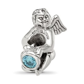 Reflection Beads Sterling Silver September CZ Birthstone Angel Bead