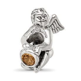 Reflection Beads Sterling Silver November CZ Birthstone Angel Bead