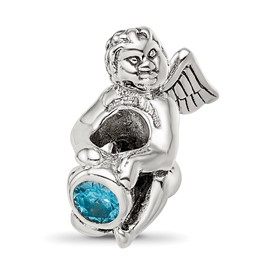 Reflection Beads Sterling Silver December CZ Birthstone Angel Bead
