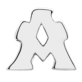 Reflection Beads Sterling Silver Letter A Bead