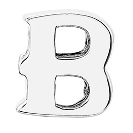 Reflection Beads Sterling Silver Letter B Bead