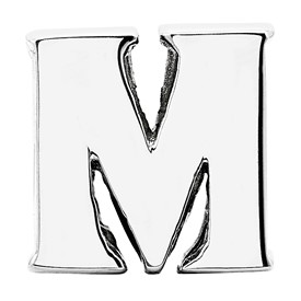 Reflection Beads Sterling Silver Letter M Bead