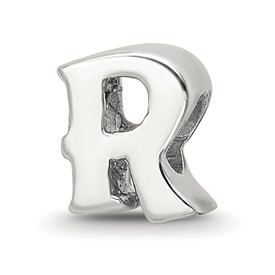 Reflection Beads Sterling Silver Letter R Bead