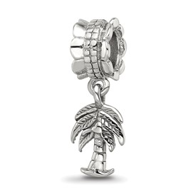 Reflection Beads Sterling Silver Palm Tree Dangle Bead