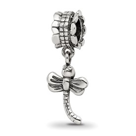 Reflection Beads Sterling Silver Dragonfly Dangle Bead