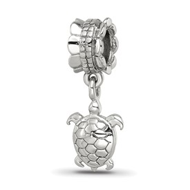 Reflection Beads Sterling Silver Turtle Dangle Bead
