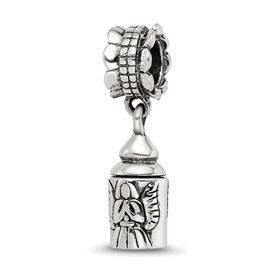 Reflection Beads Sterling Silver Angel Ash Dangle Bead