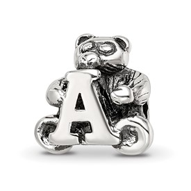 Reflection Beads Sterling Silver Kids Letter A Bead