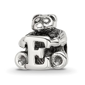 Reflection Beads Sterling Silver Kids Letter E Bead