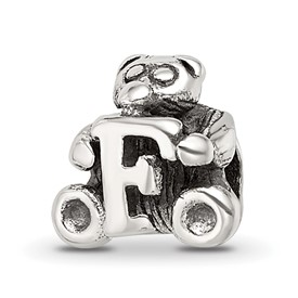Reflection Beads Sterling Silver Kids Letter F Bead