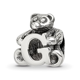 Reflection Beads Sterling Silver Kids Letter G Bead