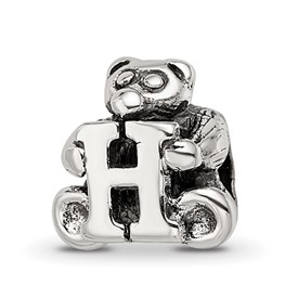 Reflection Beads Sterling Silver Kids Letter H Bead