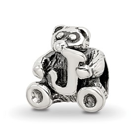 Reflection Beads Sterling Silver Kids Letter J Bead