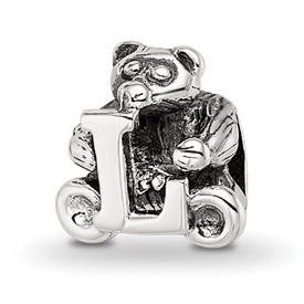 Reflection Beads Sterling Silver Kids Letter L Bead