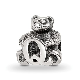 Reflection Beads Sterling Silver Kids Letter Q Bead