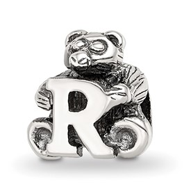 Reflection Beads Sterling Silver Kids Letter R Bead