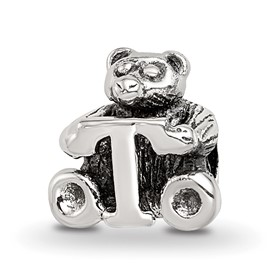 Reflection Beads Sterling Silver Kids Letter T Bead