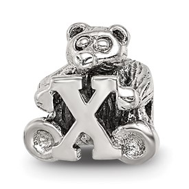 Reflection Beads Sterling Silver Kids Letter X Bead
