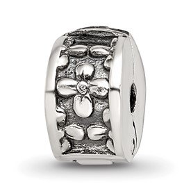 Reflection Beads Sterling Silver Kids Floral Clip Bead