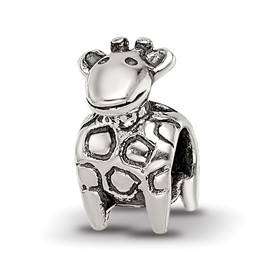 Reflection Beads Sterling Silver Kids Giraffe Bead