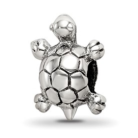 Reflection Beads Sterling Silver Kids Turtle Bead