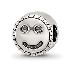 Reflection Beads Sterling Silver Kids Smiley Face Bead