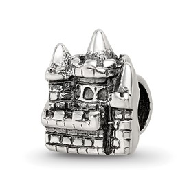 Reflection Beads Sterling Silver Kids Castle Bead