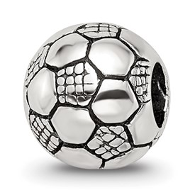 Reflection Beads Sterling Silver Kids Soccer Ball Bead