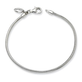 Reflection Beads Sterling Silver Kids, Lobster Clasp, Polished, Bracelet