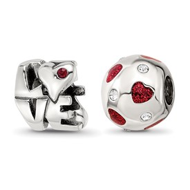 Reflection Beads Sterling Silver All You Need Is Love Boxed Bead Set